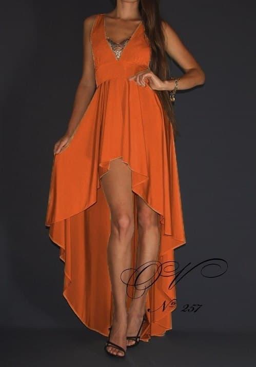 Сшить платье спереди короткое сзади длинное