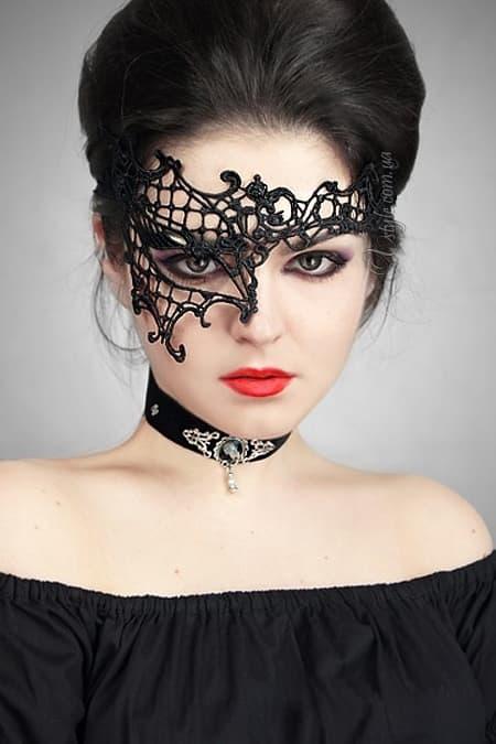 Кружевная повязка для глаз женская