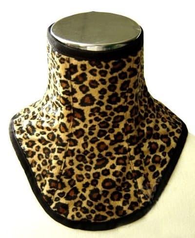 Леопардовый меховой корсет на шею - фото 6189