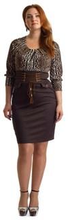 Короткое корсетное платье с леопардовым принтом