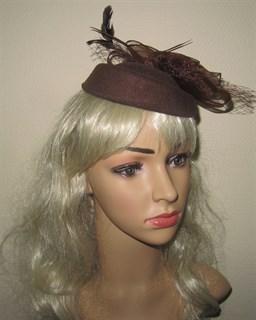 "Шляпка ""Жанет"" без вуали. Шоколад"