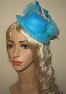 Шляпка цилиндр на заколках с большим бантом. Разные цвета