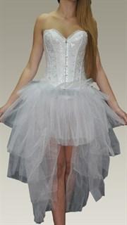 Ассиметричная пышная юбка из фатина