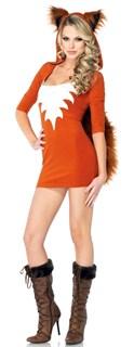 Короткий костюм лисы с хвостом