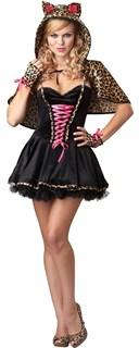 Платье кошечки с леопардовым капюшоном