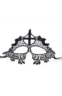 Черная кружевная маска 2595