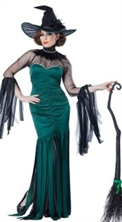 Платье зеленой ведьмы