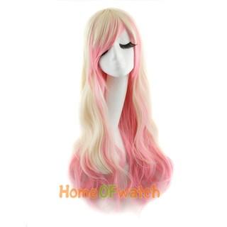 Парик розовый блонд