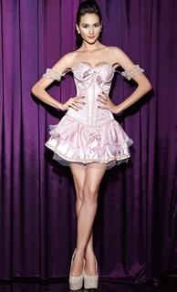 Розовая принцесса с корсетом