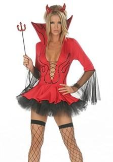 Красная дьяволица с воротником.