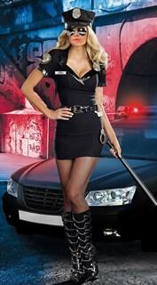 Платье полицейской с красивым декольте