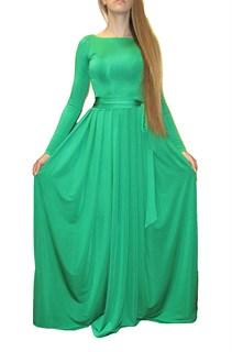 Изумительное темно-зеленое платье в пол