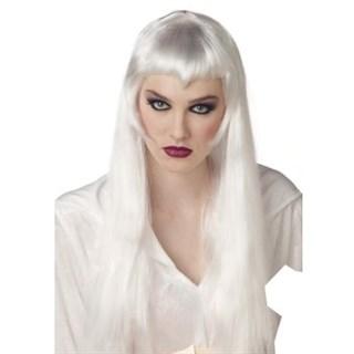 Длинный парик платиновой блондинки