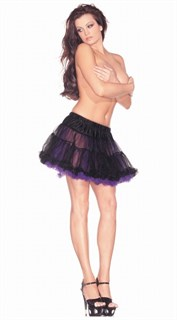 Подъюбник черный с фиолетовым