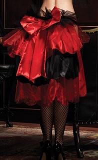Многослойная длинная юбка с бантом