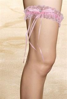 Розовая подвязка на ногу