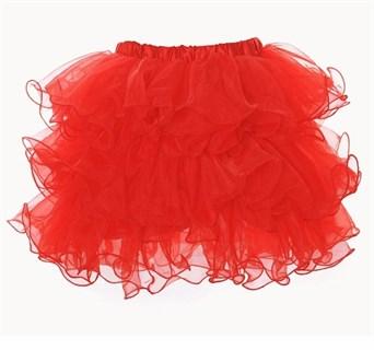 Красная пышная юбка фонарик