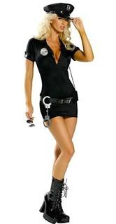 Эротический костюм полицейского - платье на молнии