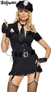 Эротический костюм полицейского платье с подвязками