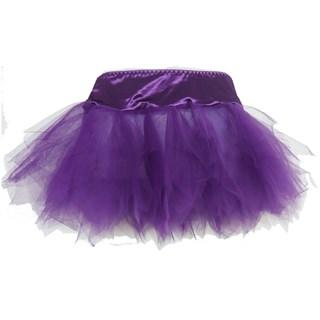фиолетовый подъюбник с рваными краями
