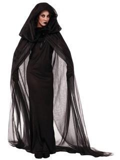 Черная ведьма с прозрачным плащом