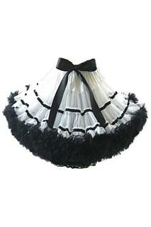 Пышная белая двуслойная юбка с подкладкой.