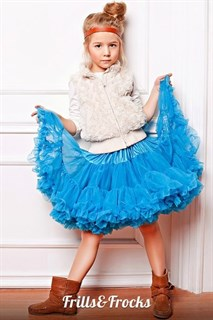 Пышная юбка Frills&Frocks ярко-голубая