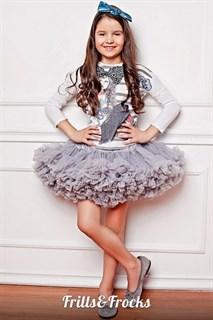 Пышная юбка Frills&Frocks серого цвета