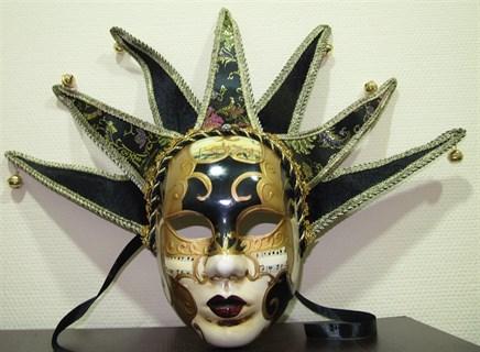 Венецианска маска шута с колокольчиками