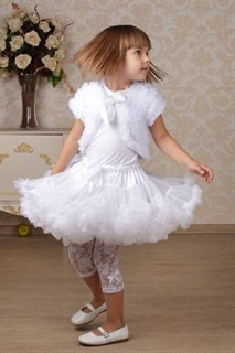 Белая юбка-пачка Pettiskirt. 32 см