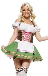 Костюм баварочки с зеленой юбкой