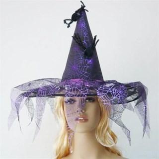 Шляпа для костюма ведьмы. Фиолетовая