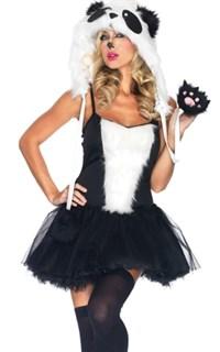 Карнавальный костюм панды: платье с капюшоном