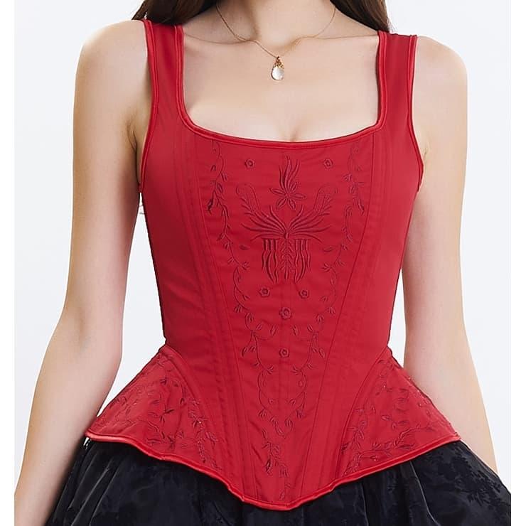 407241954661a Красный корсет для пышной юбки - фото 13624