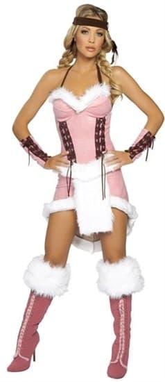 Розовое платье для индейской девушки - фото 12076