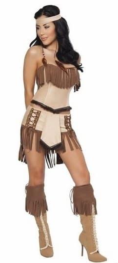 Костюм индейской девушки: топ и юбка - фото 12103