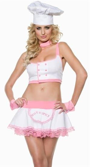 Эротический костюм сексуального поваренка. Топ и юбка - фото 12126