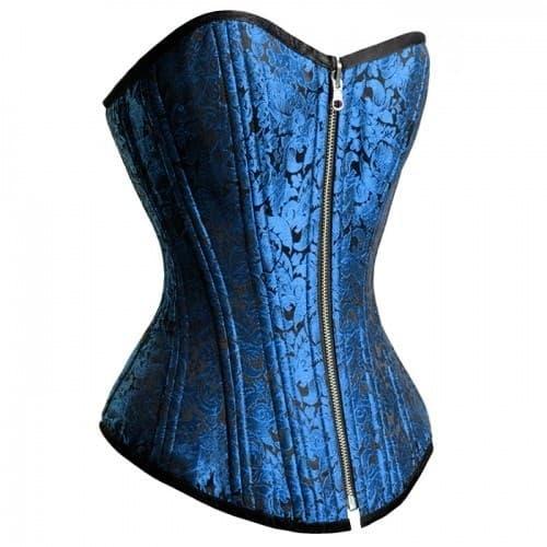 Корсет насыщенного синего цвета двусторонний - фото 12575