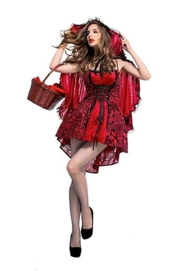 Красная шапочка с кружевной юбкой