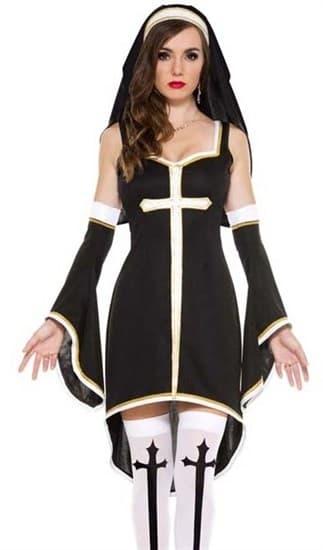 Платье монахини с рукавами - фото 14624