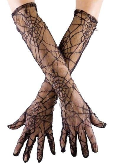 Перчатки паутинка длинные - фото 14860
