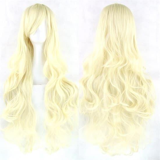 Парик теплый блонд. 80см - фото 14911