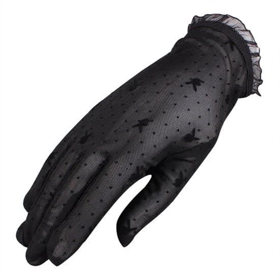 Короткие прозрачные перчатки с плейбойчиками - фото 15274