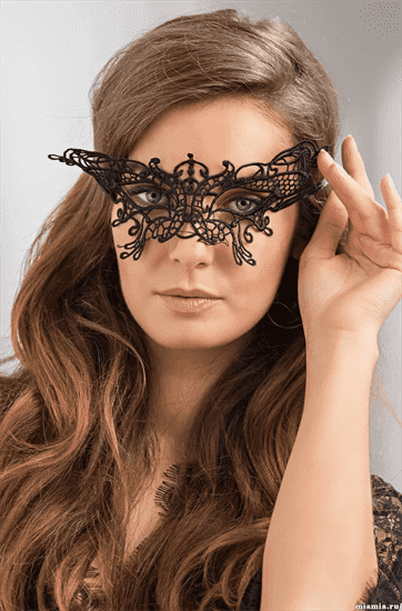 Кружевная маска на глаза Королевская бабочка - фото 15537