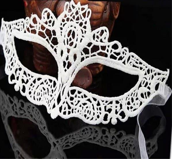 Белая кружевная маска. 3197 - фото 15549