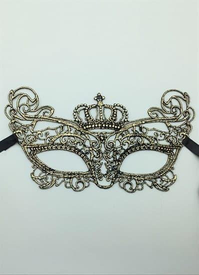 Кружевная маска королевы. Золото - фото 15673