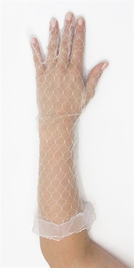 Прозрачные перчатки до локтя. Белые - фото 15996
