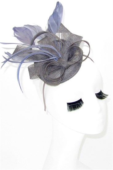Маленька шляпка таблетка Тринити. Серый цвет - фото 16634