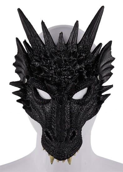 Черный дракон 3D. Мягкая полумаска