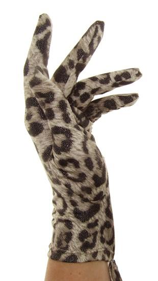 Летние перчатки тонкий трикотаж. Леопард - фото 19833